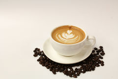 Hot Latte Art Coffee Royalty Free Stock Images