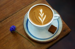 Hot Latte. Beautyful latte in cup stock image