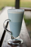 Hot latte Butterfly pea milk Royalty Free Stock Photos