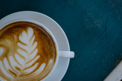 Hot latte coffee Royalty Free Stock Image