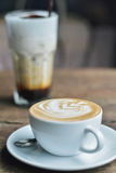 Hot Latte. A cup of coffee, ice cappuccino Royalty Free Stock Photography