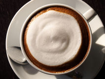 Hot latte with foam milk Stock Photography