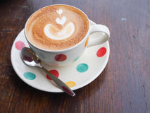 Hot Latte is good for your morning Royalty Free Stock Photos