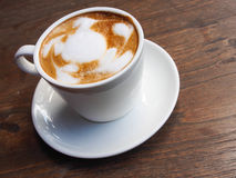 Hot Latte is good for your morning Royalty Free Stock Photography