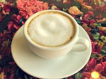 Hot Latte. In White Cup royalty free stock images