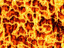 Hot Lava Fire Stock Images