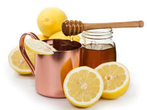 Hot Lemon Drink Stock Photography