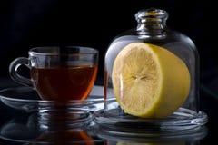 Hot lemon ginger tea stock photography