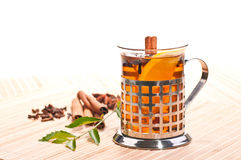 Hot lemon spiced tea Royalty Free Stock Photography