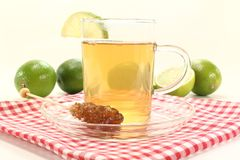 Hot lemon tea Stock Images