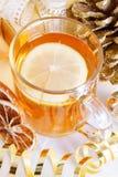 Hot lemon tea. Stock Photos