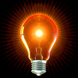 Hot Light Bulb Royalty Free Stock Photos