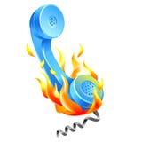 Hot line icon. Illustration of hot line icon Stock Photo