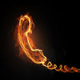 Hot line light icon Royalty Free Stock Photography