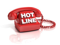 Hot line phone 3d icon Royalty Free Stock Photography