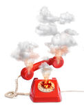 Hot line vintage telephone Royalty Free Stock Images