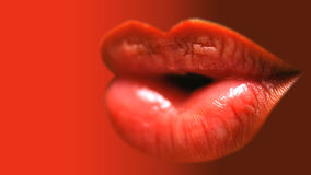 Hot lips royalty free stock photo