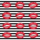 Hot lips vector cartoon collection Stock Photo
