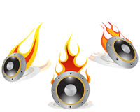 Hot loudspeakers. Background with shadows. Vector illustration royalty free illustration