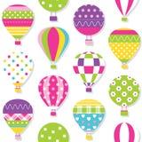 Hot luftar ballonger mönstrar Royaltyfri Fotografi