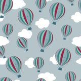 Hot luftar ballonger mönstrar Arkivfoton