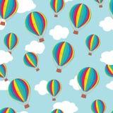 Hot luftar ballonger mönstrar Royaltyfri Foto