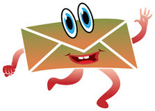 Hot mail. Running Hot mail letter on isolated white background Royalty Free Stock Photography
