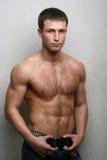 Hot male model stock photo