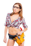 Hot manual worker. Royalty Free Stock Photos