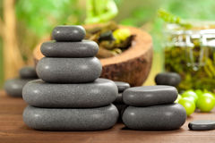 Hot massage stones Royalty Free Stock Photography