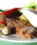 Hot Meat Dish - Shashlik Royalty Free Stock Photography