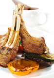 Hot Meat Dishes - Bone-in Lamb Stock Photos