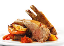 Hot Meat Dishes - Bone-in Lamb Royalty Free Stock Images
