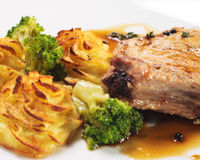 Hot Meat Dishes - Bone-in Pork Brisket Royalty Free Stock Image