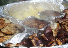Hot meat dishes Stock Photography