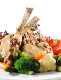 Hot Meat Dishes - Prime Rib Roast Pork Stock Photo