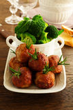 Hot meatballs with rosemary Royalty Free Stock Photos