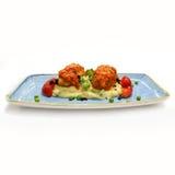 Hot meet with poteto puree. Royalty Free Stock Photography