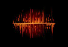 Hot melted waveform. With bended peaks in heat Stock Photography
