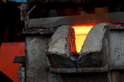 Hot metal Stock Photography