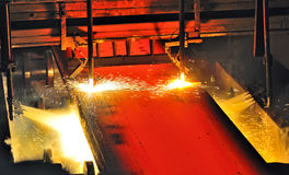 Hot metal cutting Stock Image
