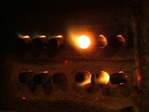 Hot metal forge. A photo of hot metal forging preparation Stock Image