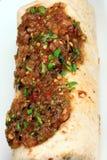 Hot mexican burrito Stock Image