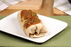 Hot mexican burrito Stock Image