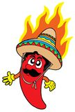 Hot Mexican chilli. Vector illustration Stock Photography