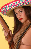 Hot Mexican outlaw Royalty Free Stock Photo