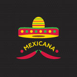 Hot Mexicano Chili Pepper Logo template. Mexican Fast food logotype Royalty Free Stock Photo