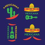 Hot Mexicano Chili Pepper Logo template. Mexican Fast food logot Stock Photo