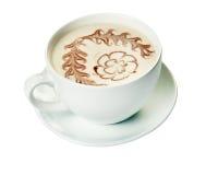 Hot milk art coffee Royalty Free Stock Photos