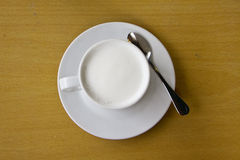 Hot milk beverage Stock Photo